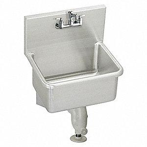 Elkay Wall Mount Utility Sink 1 Bowl Stainless Steel 23 L X 18 2 W 12 H 52jy89 Essb2319c Grainger