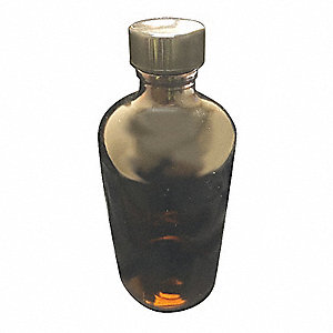 Narrow Mouth Boston Round Bottle, Sampling, Glass, 950mL, Amber, 12 PK
