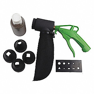 Polyoxymethylene, Rubber Pistol Grip Air Gun Kit; Max. Inlet Pressure: 174 psi