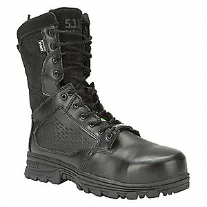 "8"" Work Boot Boots, Toe Type: Composite, Black, Size: 7"