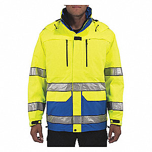 "First Responder Jacket, XLT Fits Chest Size 50"", Hi-Visibility Royal Blue Color"