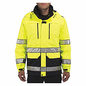 "First Responder Jacket, XL Fits Chest Size 48"", Hi-Visibility Dark Navy Color"