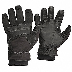 Cold Protection Gloves, Thinsulate Lining, Slip-On Cuff, Black, L, EA 1