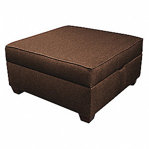 "Storage Ottoman,30"" W,Brown Upholstery"