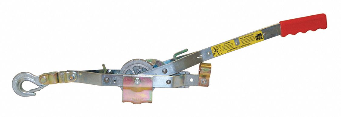 Rope Ratchet Puller,  1,500 lb Pull Capacity,  15 lb Lifting Capacity