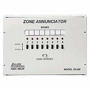 Zone Annunciator,8 Zone,Metal