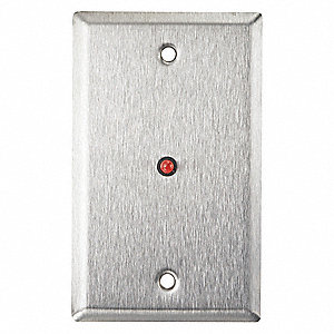 Wall Plate,Single Gang,Stainless Steel