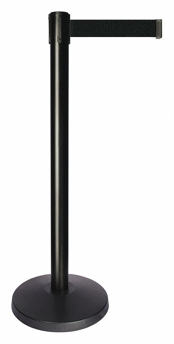 Barrier Post, Black Belt, 10 ft. Belt L
