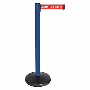 "Barrier Post,Blue Post,14"" Base dia."