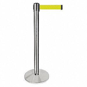 Barrier Post,Silver Post,Fluor Yllw Belt