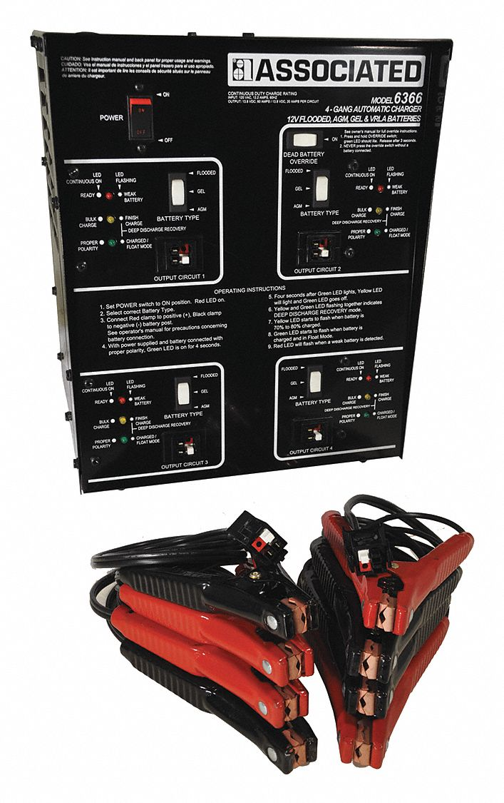 Automatic Battery Charger,  Charging,  AGM, Deep Cycle, Gel, Lead Acid,  For Battery Voltage 12