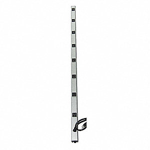 Outlet Strip,15 ft.,8 Outlets,Aluminum