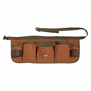 "Brown Apron, Canvas, Fits up to 52"" Waist Size, Number of Pockets: 13"