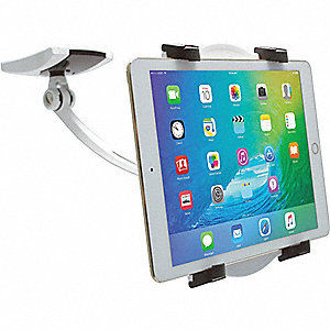 "Tablet Stand, White, Plastic, 5"" W"