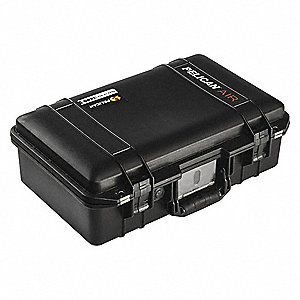 "Case, W/Foam, 19-3/4"" L, 13-1/4"" W, Black"