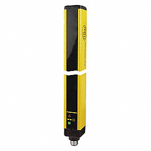 Yellow Light Curtain, 39.4 ft. Max. Sensing Distance, 24VDC Input Voltage