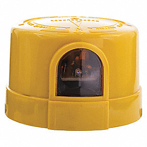 "Photocontrol,400-550VAC,Yellow,3-3/16"" L"