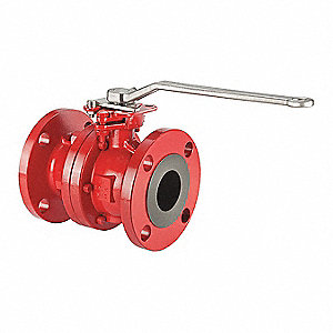 "Carbon Steel Flanged x Flanged Ball Valve, Locking Lever, 8"" Pipe Size"