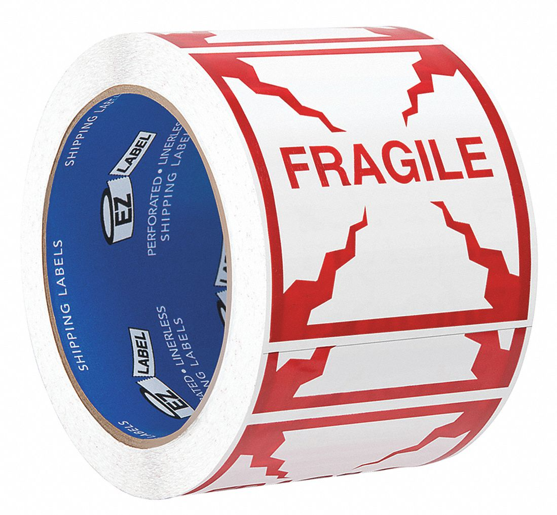 Instructional Handling Label,  Primary Label Subject Care Instruction,  Message Header Fragile