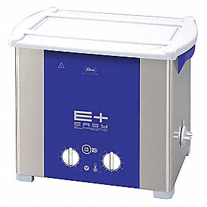 Ultrasonic Cleaner, Desktop Type, Tank Capacity: 3.5 gal., Timer Range: 1 to 30 min.