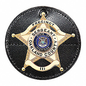 Leather Badge Accessory, Black Color
