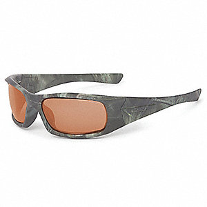 5B Reaper Woods w/Mirrored Copper Lenses Scratch-Resistant Safety Glasses, Copper Mirror Lens Color