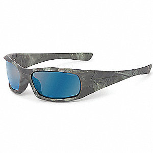 5B Reaper Woods w/Mirrored Blue Polar Lenses Scratch-Resistant Safety Glasses, Blue Mirror Lens Colo