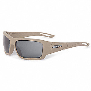 Credence Terrain Tan w/Smoke Gray Lenses Scratch-Resistant Safety Glasses, Smoke Gray Lens Color