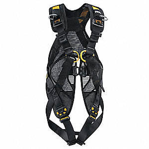 Full Body Harness with 308 lb. Weight Capacity, Black, M