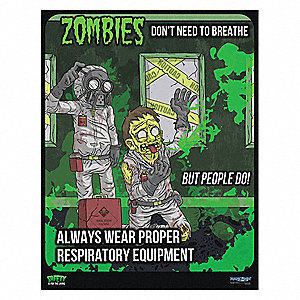"Safety Poster,12"" H,16"" W"