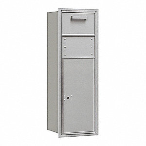 "Mailbox,4C/Private,Alum,1 Door,41"" H"