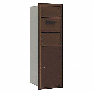 "Mailbox,Rear Loading,48"" H,1 Door,70 lb."