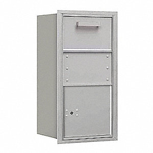 "Mailbox,4C/Private,Alum,1 Door,30-1/2"" H"
