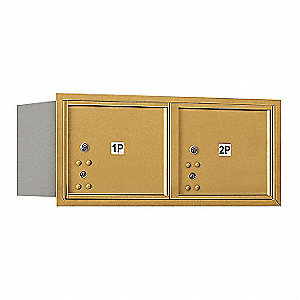 "Mailbox,Gold,31-1/8""Wx13"" H,Rear Loading"