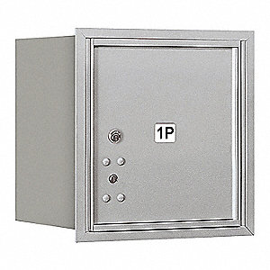 Mailbox,Recessed Mnt,Alum,1 Door,35 lb.