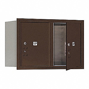 "Mailbox,Front Loading,20""H,2 Doors,65 lb"