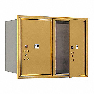"Mailbox, Front Loading, 2 Doors, 23-1/2"" H"