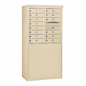 "Mailbox,4C/Private,14 Doors,58-3/4"" H"