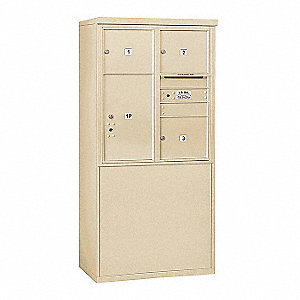 "Mailbox,4C/Private,4 Doors,19""Dx62-1/4""H"