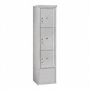 "Mailbox,4C/Private,Alum,3 Doors,72"" H"