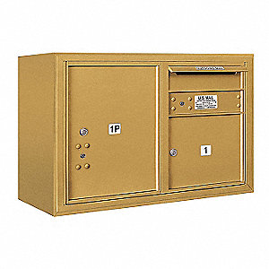"Mailbox, Gold, 32-1/4"" Wx21-1/8"" H, 1 Door"