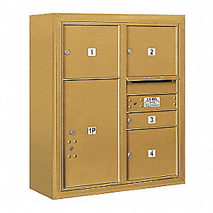 "Mailbox,4C/Private,5 Doors,32-1/4"" W"