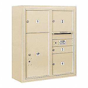 "Mailbox, Surface Mount, 5 Doors, 32-1/4"" W"