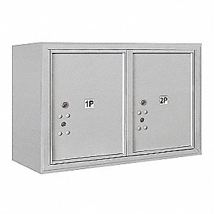 Mailbox,4C,USPS,Surface Mount,2 Doors