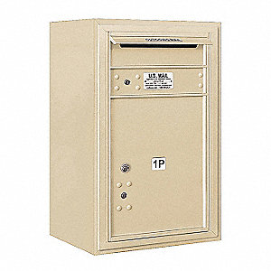 Mailbox, 4C/Private, Sandstone, 1 Doors
