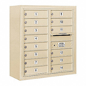 Mailbox,4C/Private,Sandstone,14 Doors