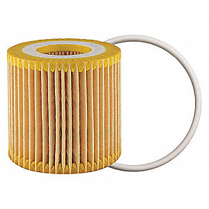 "Cartridge Oil Filter Element, Length: 2-9/16"", Outside Dia.: 2-1/2"", Micron Rating: 14"