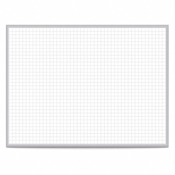 Ghent Gloss Finish Steel Dry Erase Grid Board Wall