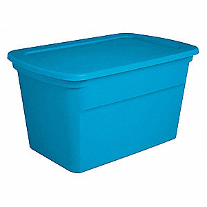 "Storage Tote,17-1/8"" Outside H,30 gal."