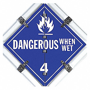 "14"" x 1"" Class 3, 8, 4, 3, 1, 4, 2, 6, 9, 2, 5.1, 6 Aluminum Vehicle Placard, Multiple"